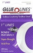 Glue Lines Adhesive Products 1 in Lines Clear Double Sided Adhesive