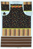 Go for the Burn Cotton Fabric - Apron Panel Q.1655-44021-498W