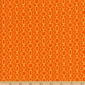 Go Girl Chains Cotton Fabric - Orange TD-64 - CLEARANCE