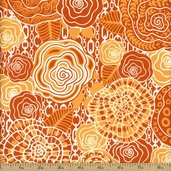 Go Girl Rose and Chains Cotton Fabric - Orange TD-66 - Clearance