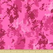 Golden D'or Novelty Cotton Fabric - Digital Camouflage - Pink