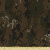Golden D'or Novelty Digital Camouflage Cotton Fabric  - Forest - clearance