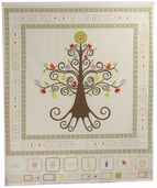 Good Life Panel Cotton Fabric - Cream P2881