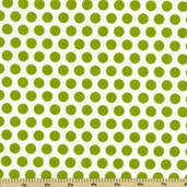 Good Life Polka Dot Cotton Fabric - Green C2883