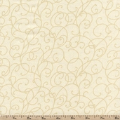 Good Measure 2 Vines Cotton Fabric - Tan