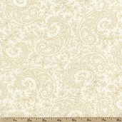 Good Measure Paisley Cotton Fabric - White