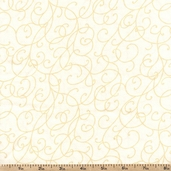 Good Measure Vines Cotton Fabric - White