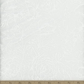 Good Measures Roses Cotton Fabric - White