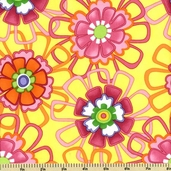 Good Morning! Cotton Fabric - Floral Toss - Yellow  22180-15