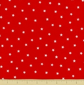 Goodnight Spot Cotton Fabric - Stars - Red
