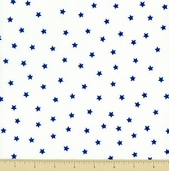 Goodnight Spot Cotton Fabric - Stars - White