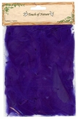 Goose Satinettes Feathers in Purple - Pkg of 3