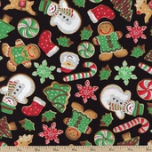 Got the Munchies Cookies Cotton Fabric - Holiday