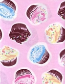 Got the Munchies Cotton Fabric - Cupcakes Pink