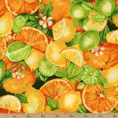 Gourmet Grocer Citrus Cotton Fabric - Summer AJH-10740-193 SUMMER