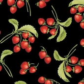 Gourmet Grocer Cotton Fabric - Black