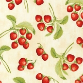 Gourmet Grocer Cotton Fabric - Ivory