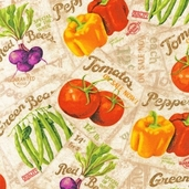 Gourmet Grocer Cotton Fabric - Multi