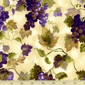 Gourmet Grocer Cotton Fabric - Vintage Grapes