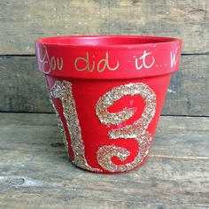 Graduation Flower Pot