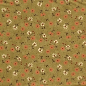 Grand Finale Dainty Flowers Cotton Fabric - Moss