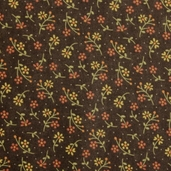 Grand Finale Dainty Flowers Cotton Fabric - Walnut