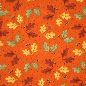 Grand Finale Fall Leaves Cotton Fabric - Bittersweet