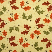 Grand Finale Fall Leaves Cotton Fabric - Glow