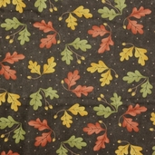 Grand Finale Fall Leaves Cotton Fabric - Walnut