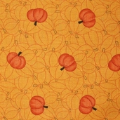 Grand Finale Pumpkins Cotton Fabric - Goldenrod