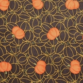 Grand Finale Pumpkins Cotton Fabric - Walnut