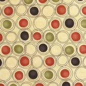 Grand Finale Seasonal Circles Cotton Fabric - Glow