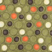 Grand Finale Seasonal Circles Cotton Fabric - Moss