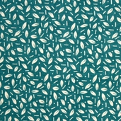 Grand Finale Seasonal Leaves Cotton Fabric - Teal