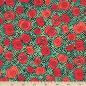 Grandma's Attic Pumpkin Cotton Fabric - Clearance