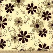 Grandma's House Cotton Fabric - Cream C2712