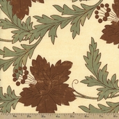 Grandma's House Cotton Fabric - Main Floral Cream