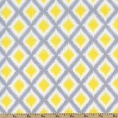 Gray Matters Diamonds Cotton Fabric - Yellow 4140406-01