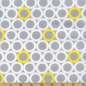Gray Matters Large Circles Cotton Fabric - Gray 4140403-01