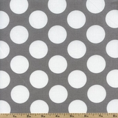 Gray Matters Large Dots Cotton Fabric - Gray 4140405-02