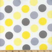 Gray Matters Large Dots Cotton Fabric - White 4140405-03