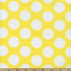 Gray Matters Large Dots Cotton Fabric - Yellow 4140405-01