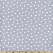 Gray Matters Small Dots Cotton Fabric - Gray 4140404-01