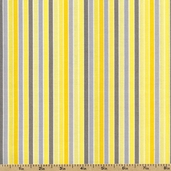 Gray Matters Stripe Cotton Fabric - Yellow 4140407-01