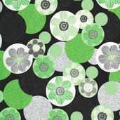 Green With Envy Cotton Fabric - Black