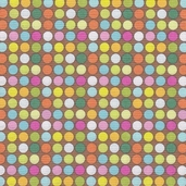 Groovy Dots Cotton Fabric - Brown