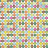 Groovy Dots Cotton Fabric - White
