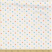 Grow with Me Cotton Fabric - Creamy White Dots