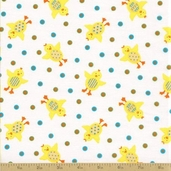 Grow with Me Cotton Fabric - Creamy White Ducks