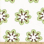 Grow with Me Cotton Fabric - Creamy White Tree Circle